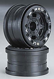 "Pro-Line Racing 1/16 Front/Rear Titus 2.2"" Black Bead-Loc Wheels  PRO271315"