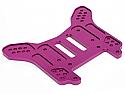 Hot Bodies Lightning Pro 2 Purple Aluminum 4mm Lightened Rear Shock Tower