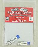 27Mhz AM Crystal Set - Channel 30 (Blue)