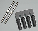 "Lunsford ""Punisher Plus"" 3mm x 1 7/8"" Titanium Turnbuckle Kit w/Ball Cups (2)"