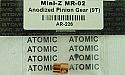 Atomic R/C 1/27th Scale 9T Anodized Pinion Gear/Mini-Z MR-02  XMOAR-226