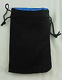 "Kaplow Black Velvet/Blue Satin 8x5"" Dice Bag KOP09916"