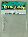 "Team Losi XX / XXX Buggy Hinge Pins (3/32"" x .930"") LOSA1146"