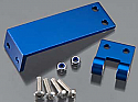 Traxxas Spartan Blue Aluminum Rudder Mount and Pivot