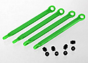 Traxxas  1/16 Grave Digger Green molded Composite Pushrod (4)
