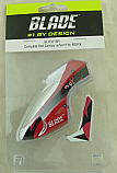 Blade mSR X Helicopter Red Complete Canopy w/Vertical Fin