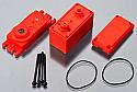 Arrma Servo Case for ADS-7M Waterproof Steering Servo, Red  ARAAR390091